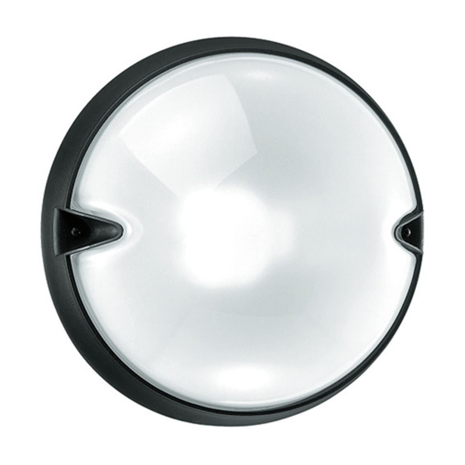 Okrągła zewnętrzna lampa ścienna CHIP, biała