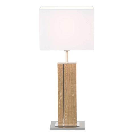 HerzBlut Miss Hilton træbordlampe
