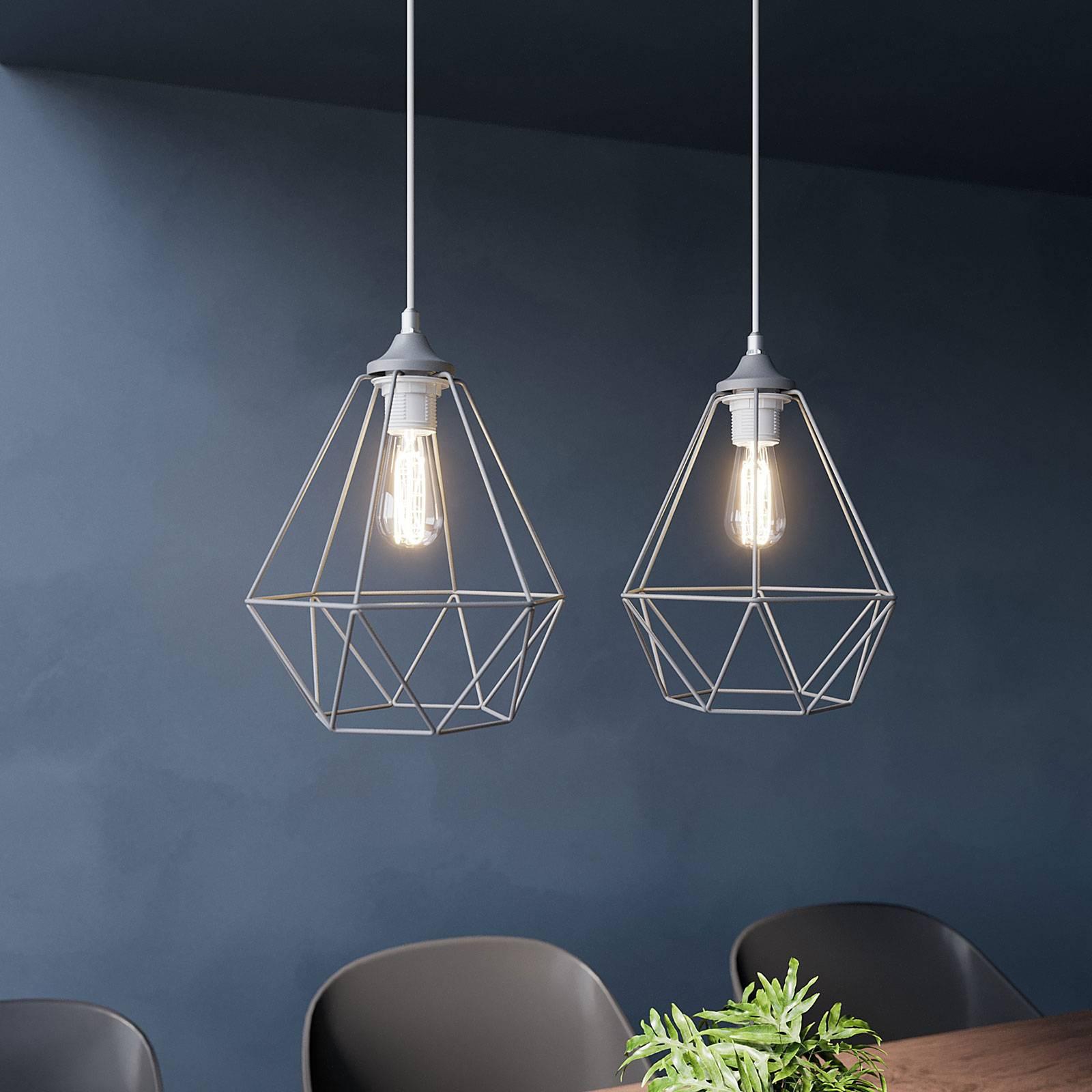 Hanglamp Karo 2-lamps, grijs