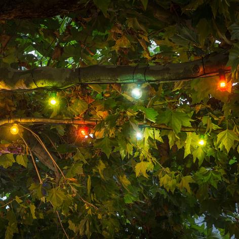 LED-Lichterkette Biergarten Erweiterung, bunt
