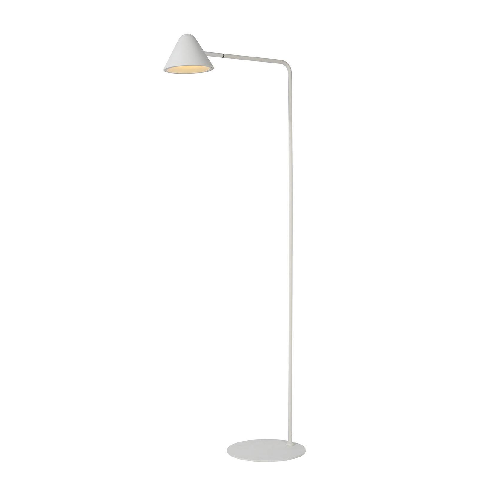 Devon LED-gulvlampe i metal, hvid