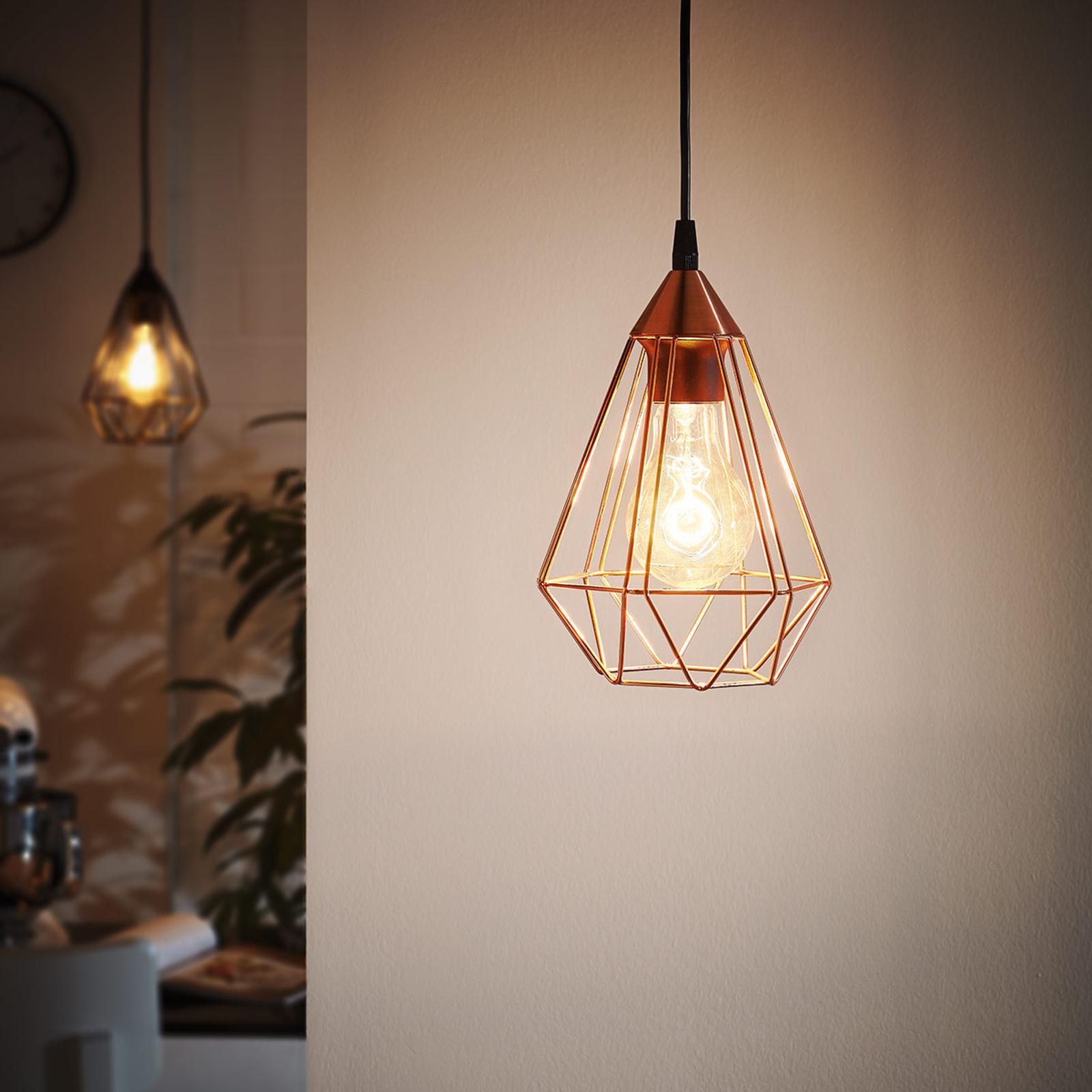 Suspension Tarbes à 1 lampe, 17,5cm, cuivre