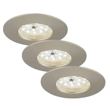 Felia LED-downlight IP44, 3er sett