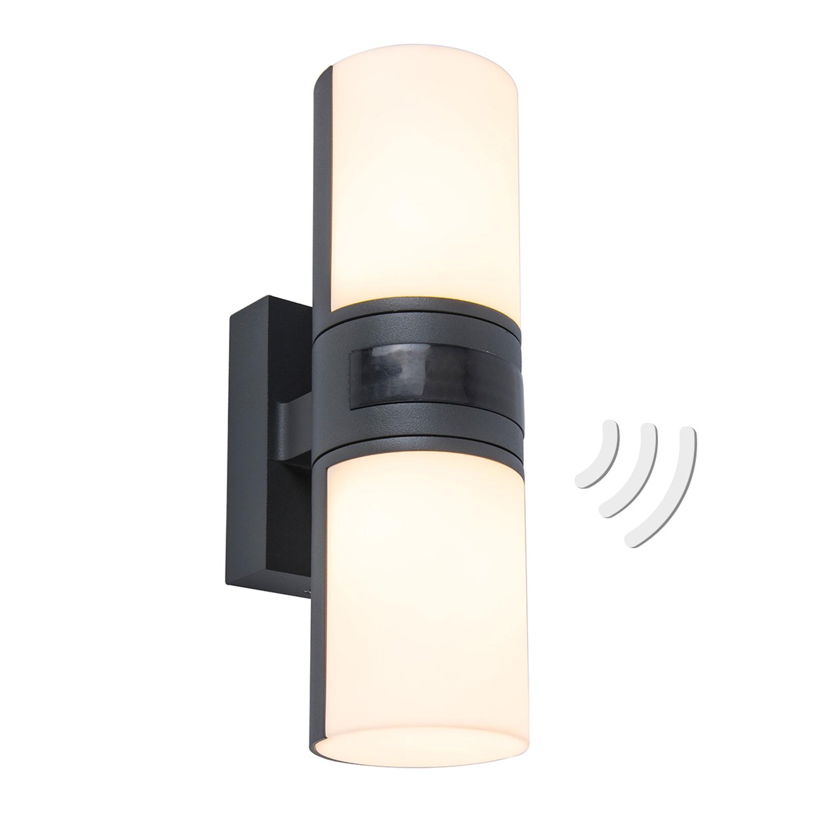 LED-Außenwandleuchte Cyra, zweiflammig, Sensor