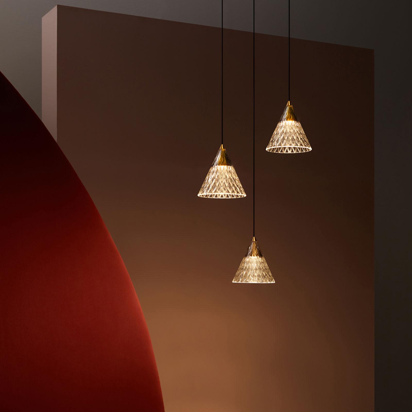 LEDS-C4 Veneto LED hanglamp 1-lamp goud/black