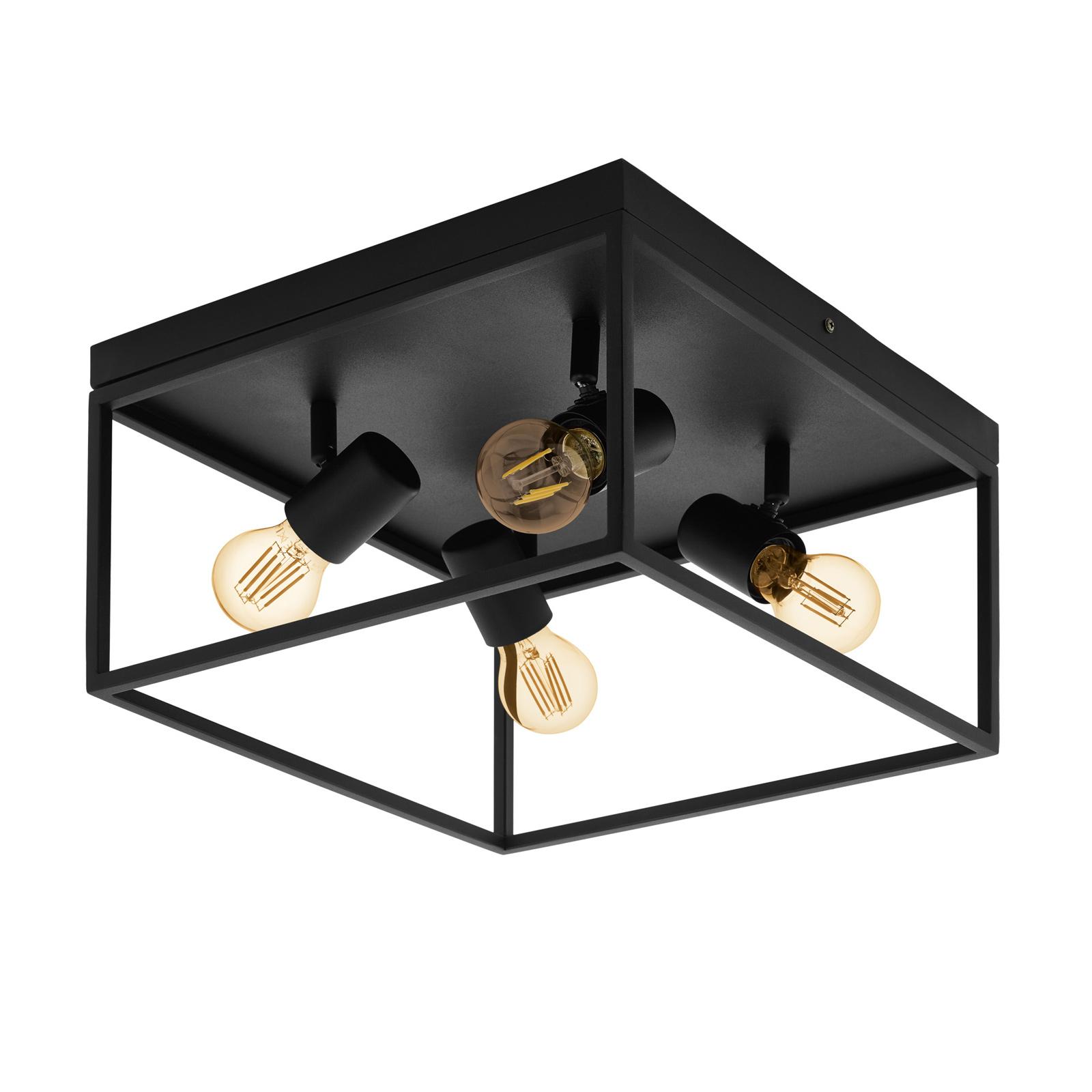 Lámpara de techo Silentina de 4 luces, 36x36cm
