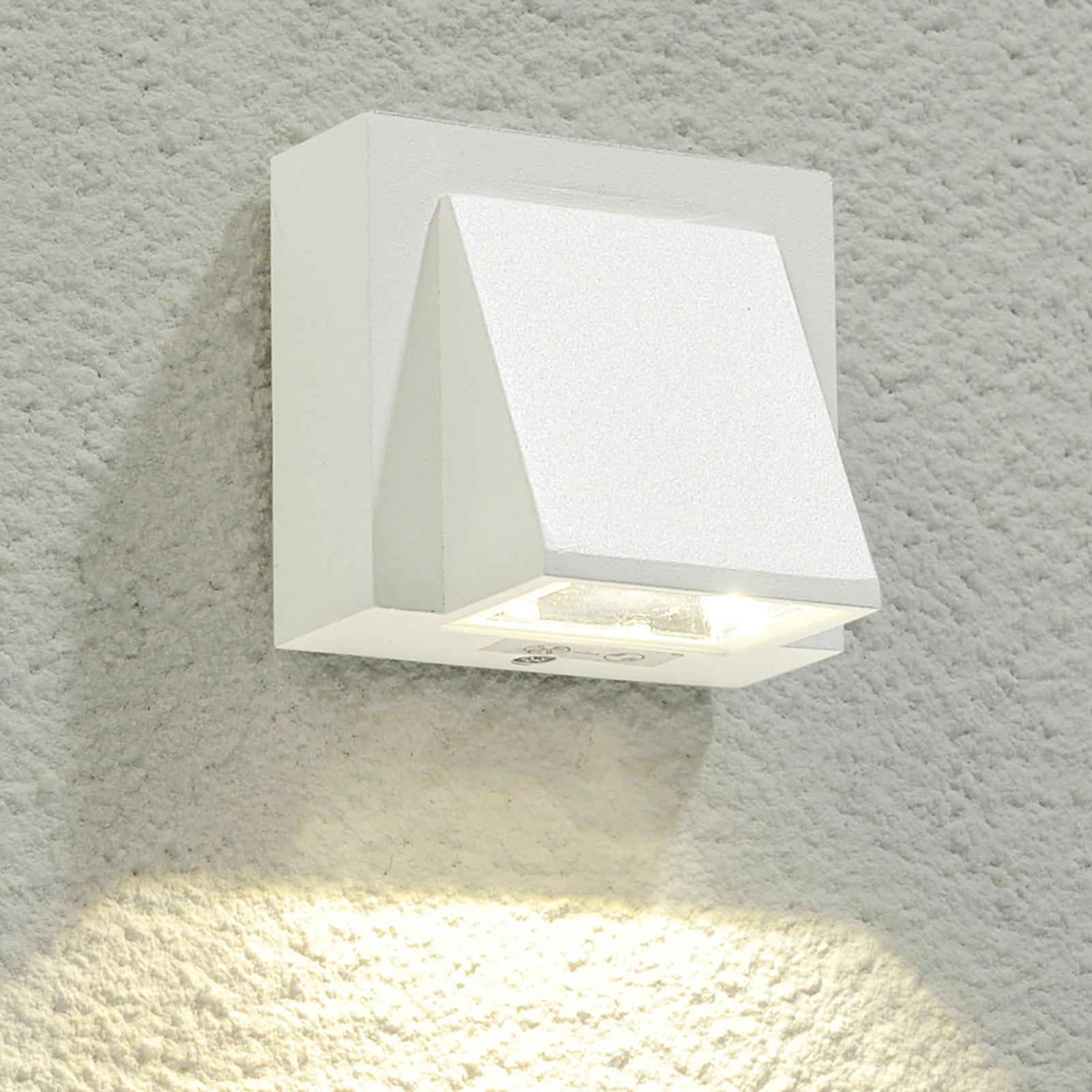 Weiße LED-Außenwandleuchte Marik