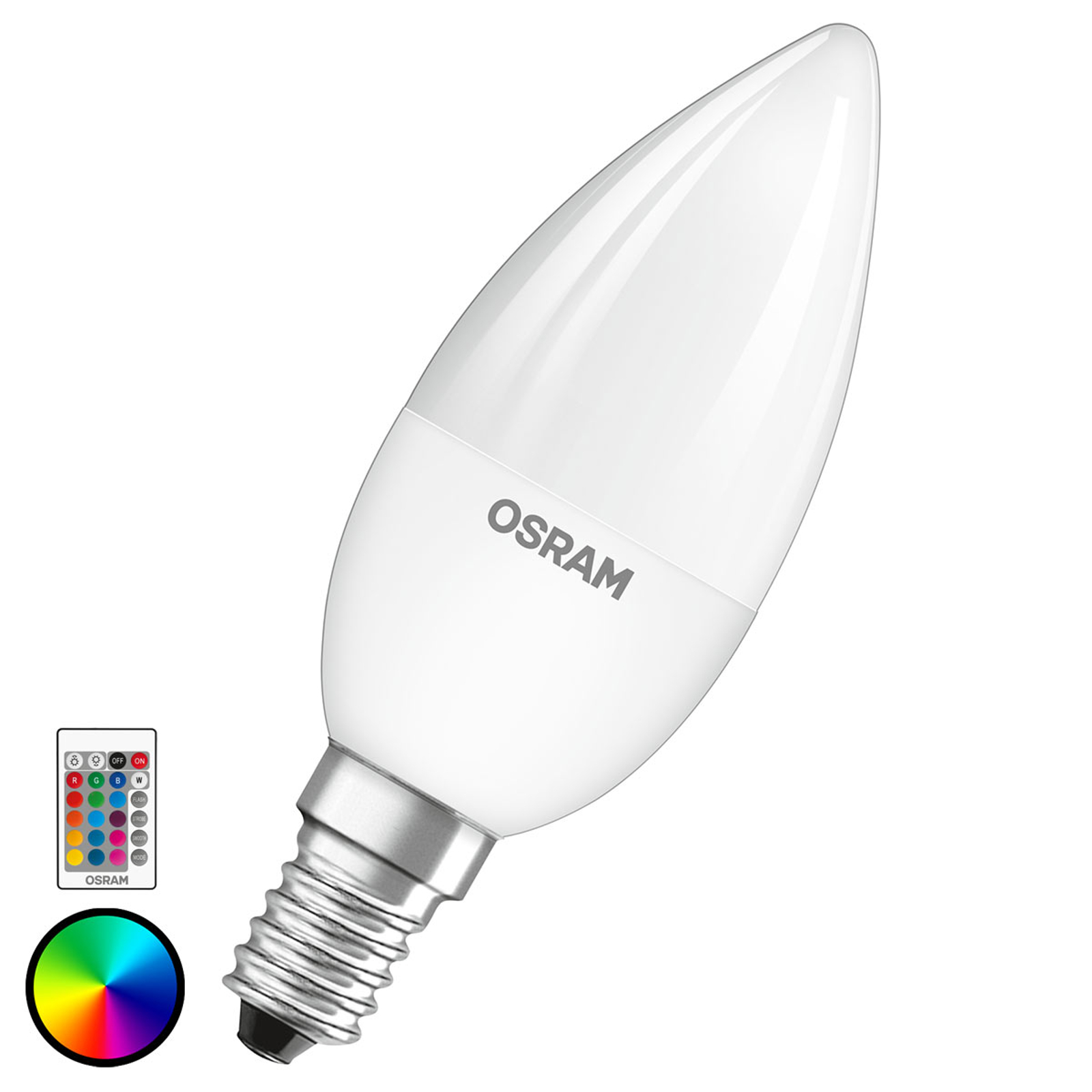 OSRAM LED-Lampe E14 4,5W Star+ Kerze matt Remote