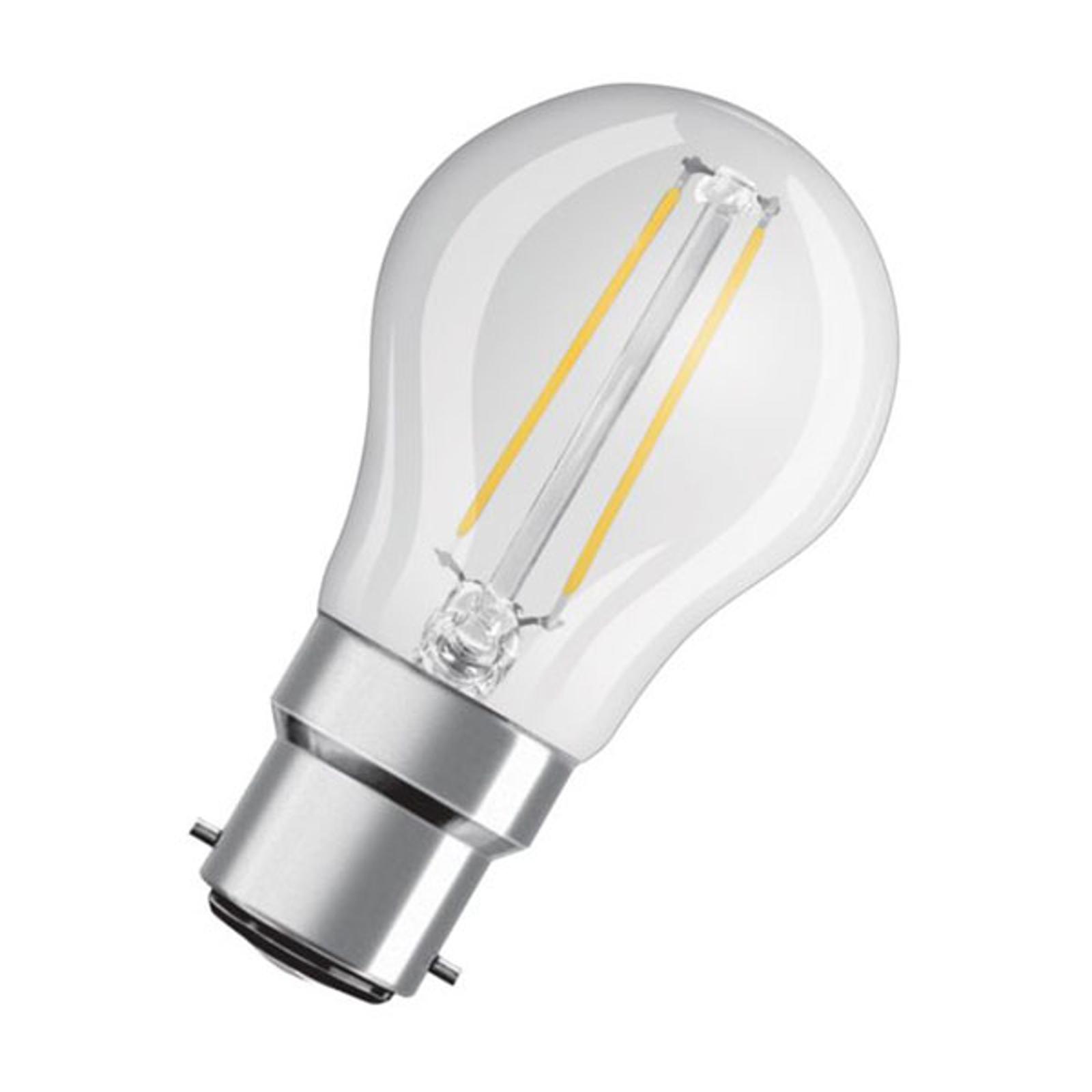 OSRAM LED-Tropfenlampe B22d 4W 2.700K klar