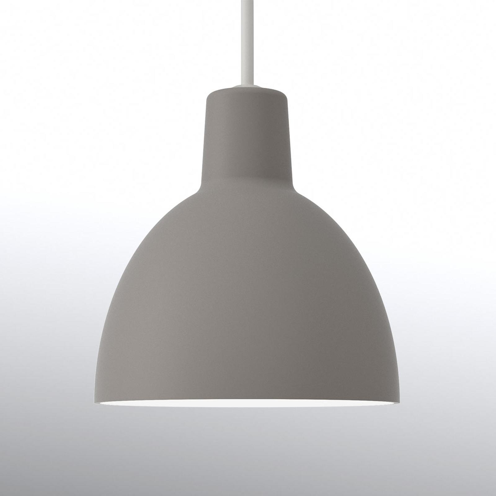Minimalistische hanglamp Toldbod 120, lichtgrijs