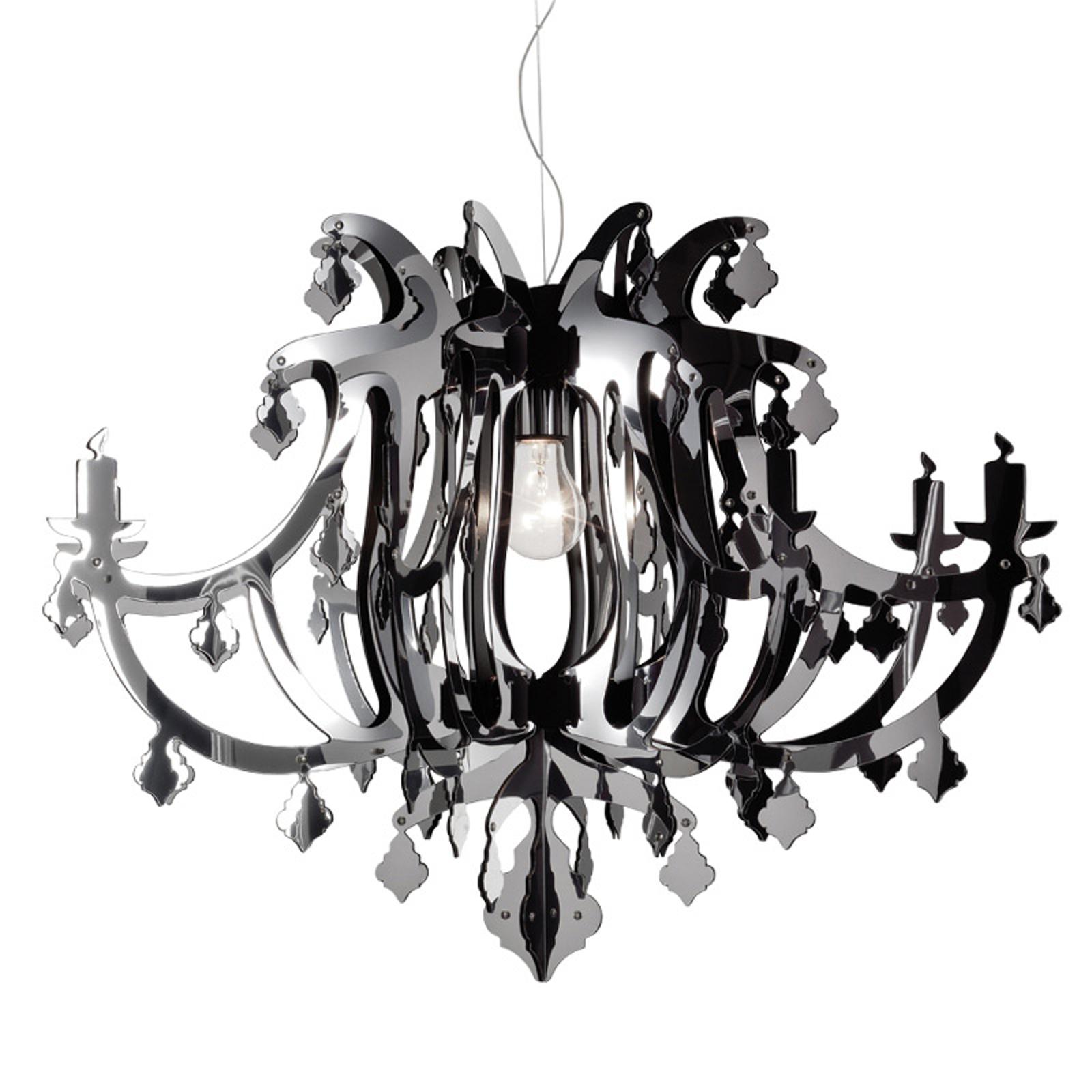 Srebrna designerska lampa wisząca GINETTA