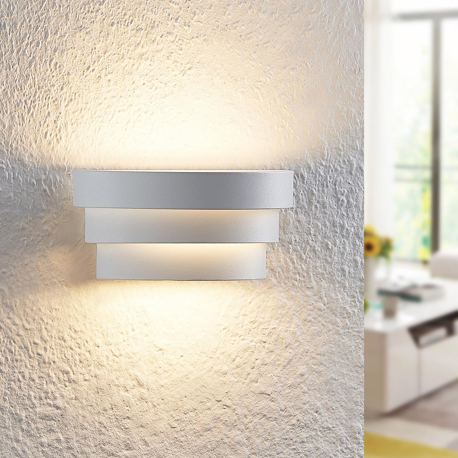 Arcchio Harun LED wandlamp in wit, 18 cm