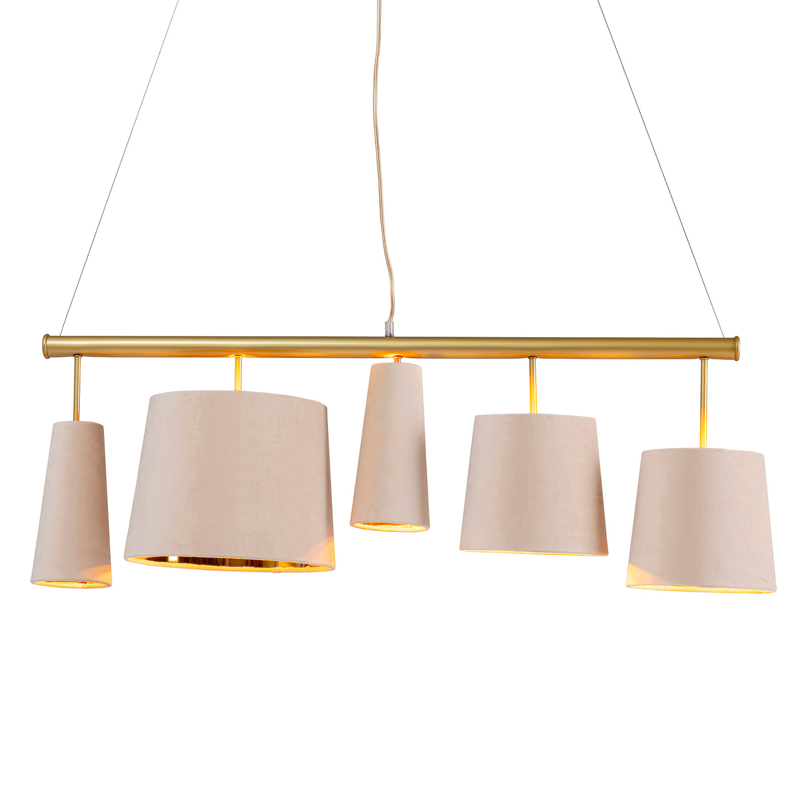 KARE Parecchi suspension cream brass à 5 lampes