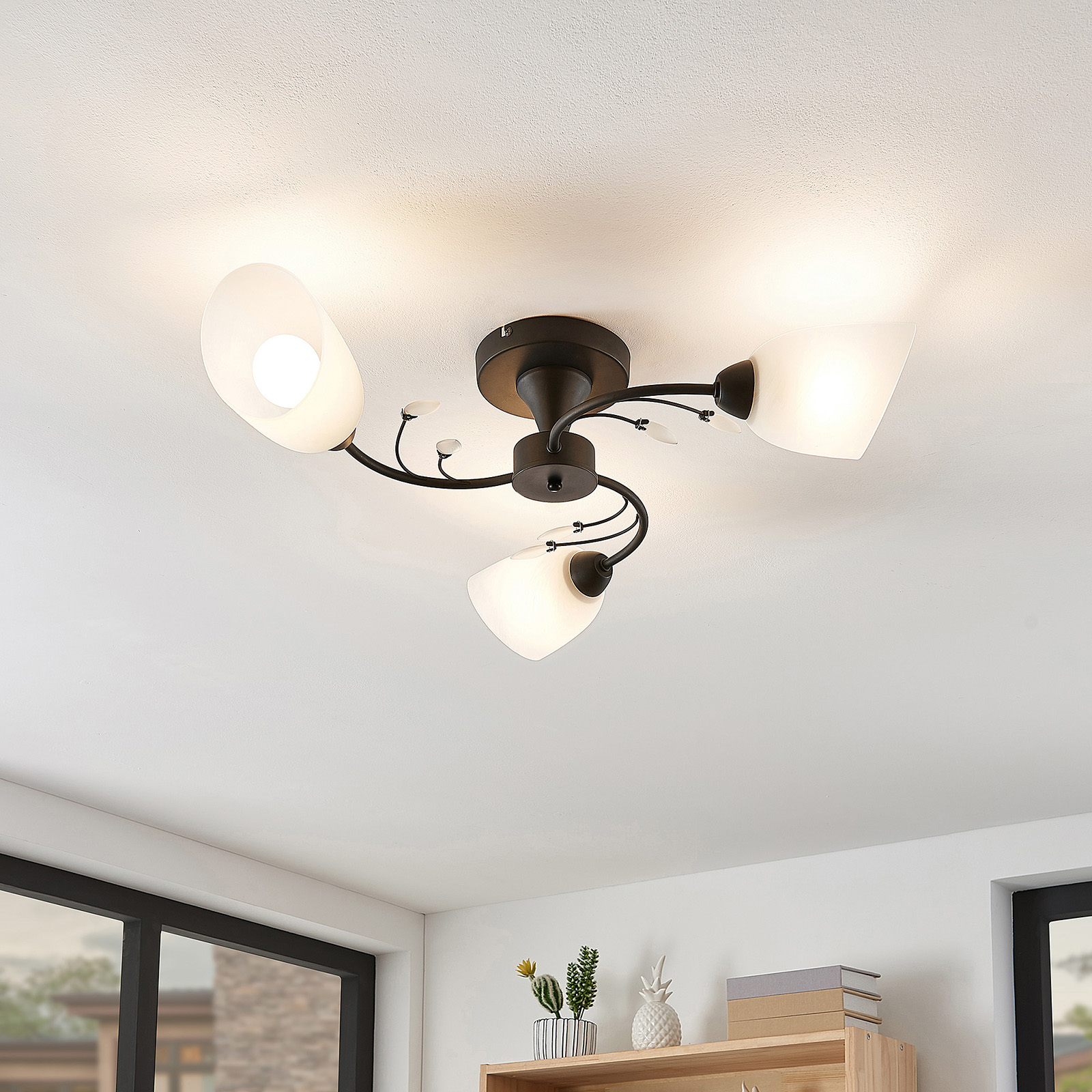 Lindby Amgad Plafonnier, à 3 lampes