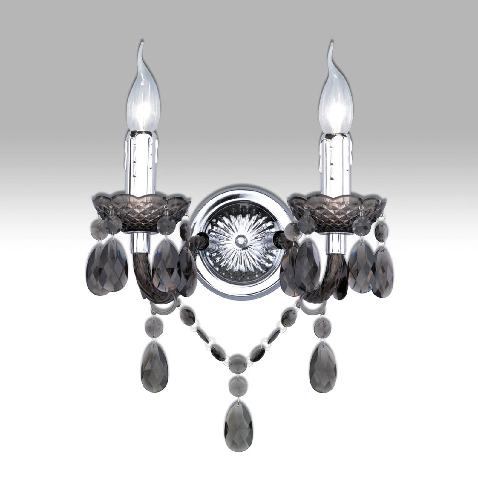 Met zwart acryl gordijn - wandlamp Perdita
