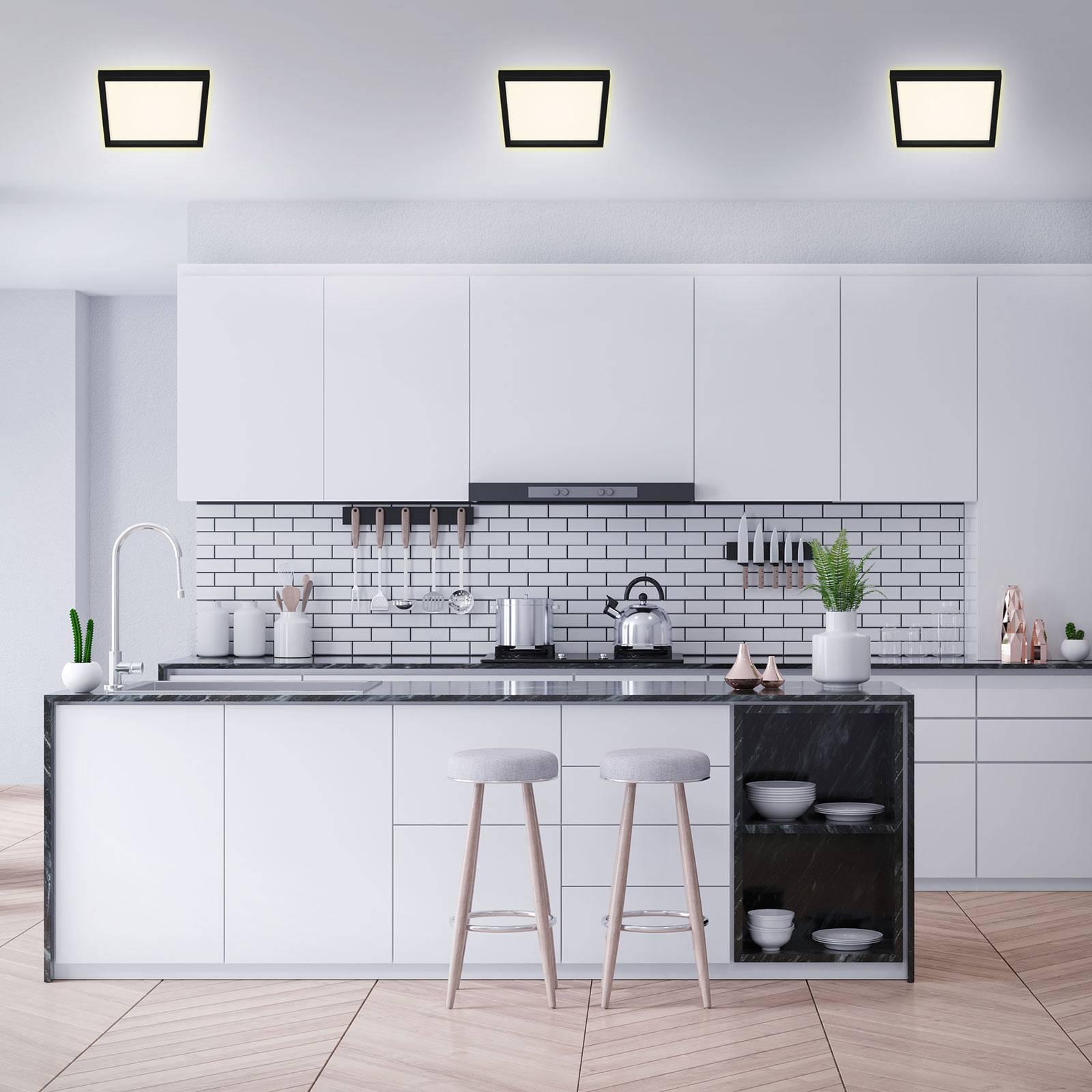 LED plafondlamp 7362, 29 x 29 cm, zwart