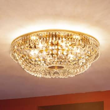 Kulaté křišťál. stropní světlo SHERATA zlato 55 cm