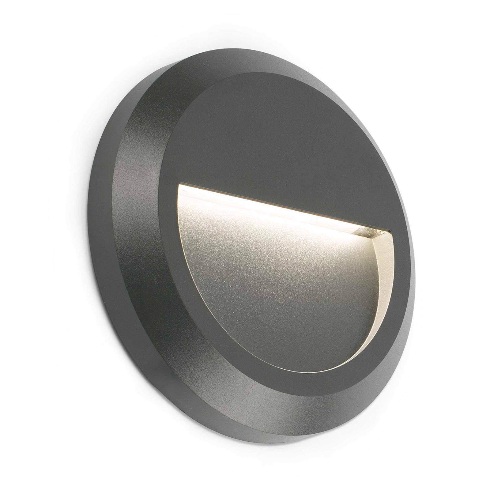 Runde LED-Außenwandlampe Grant