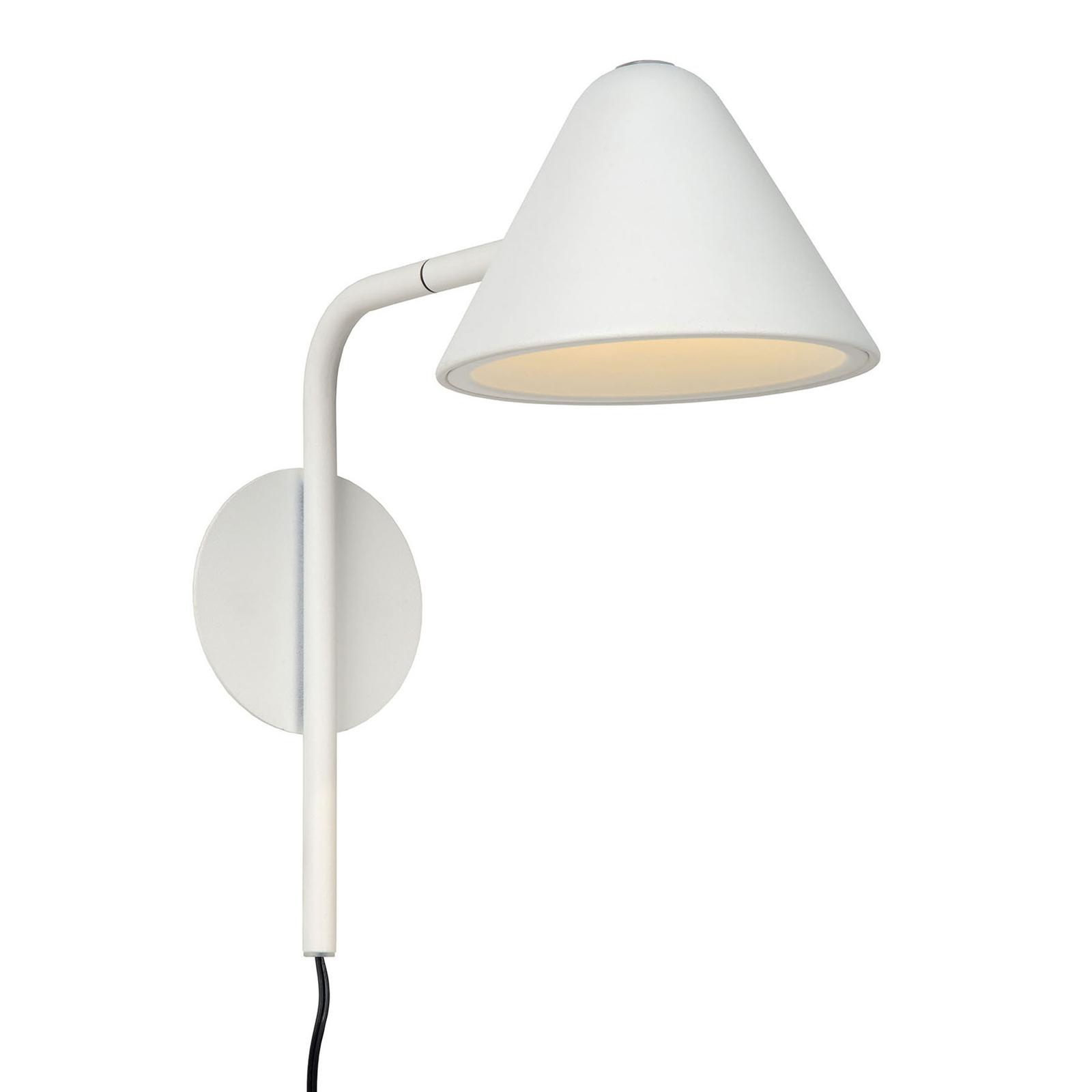 Applique LED Devon avec prise, blanche