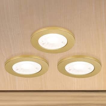 LED-møbelindbygningsspot Artist, sæt med 3