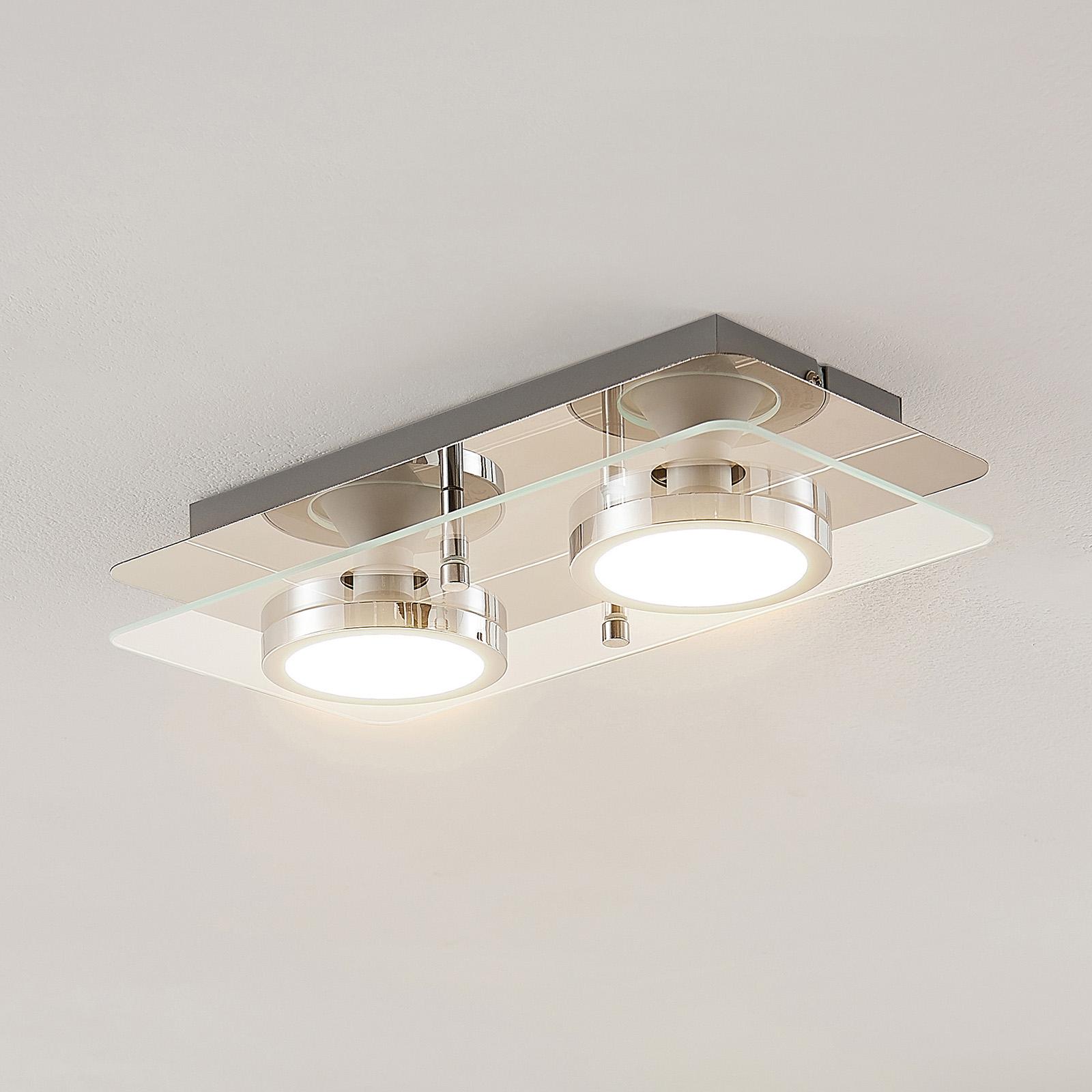 Lindby Gabryl plafoniera LED a 2 luci