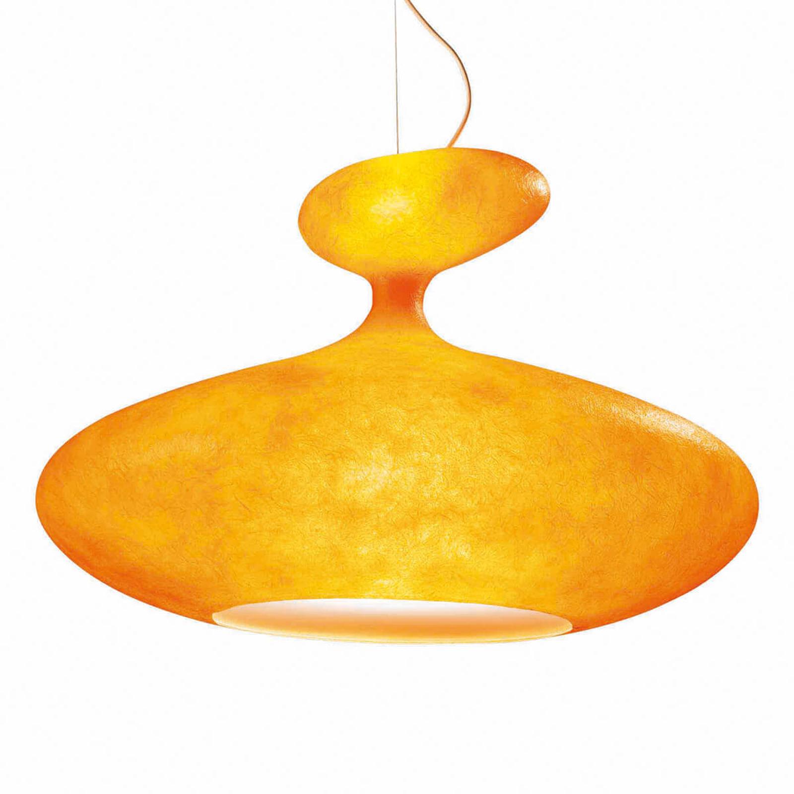 Obszerna lampa wisząca E.T.A. Sat pomarańczowa