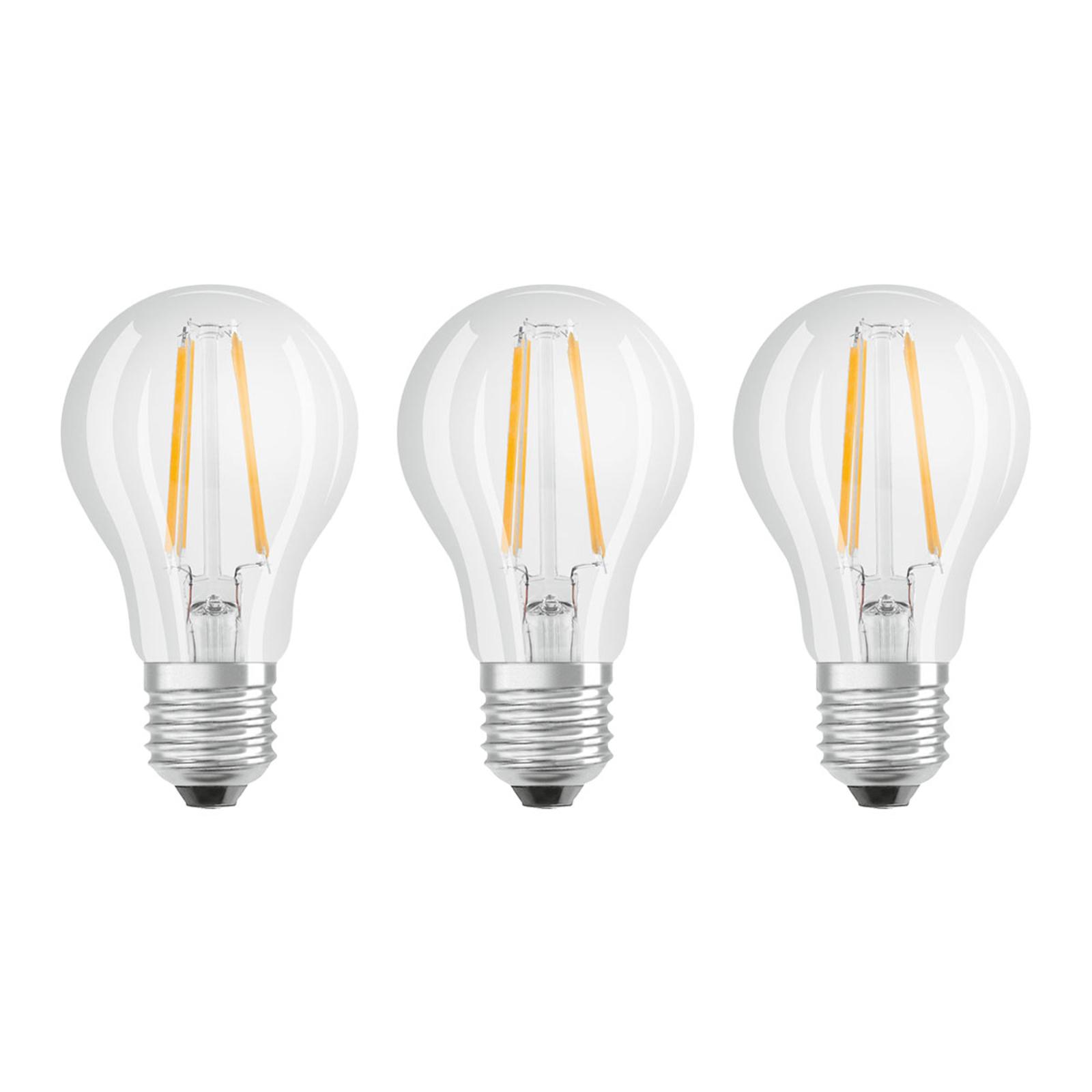 OSRAM LED E27 Classic filament 840 6,5W lot de 3