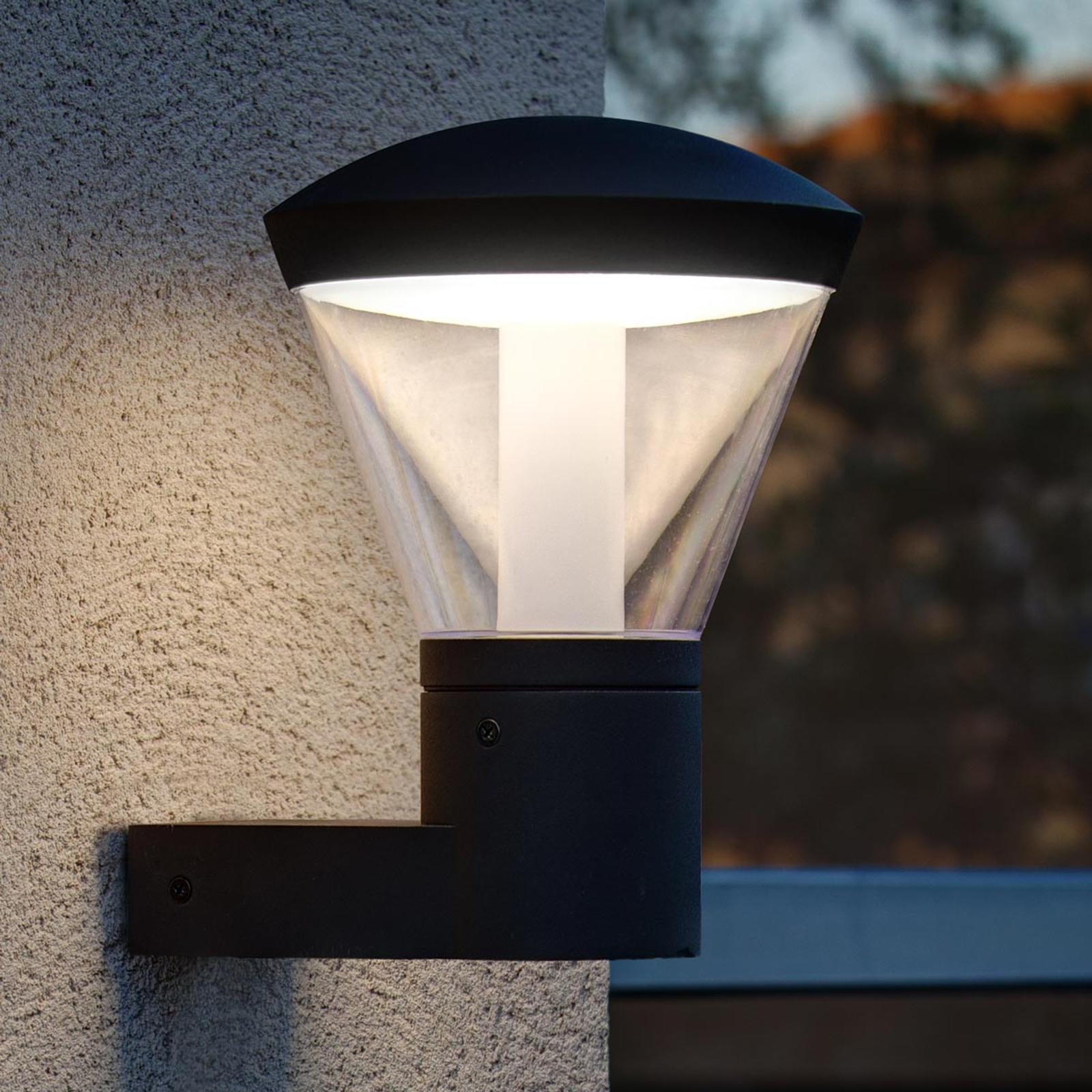 Stemningsfull LED-vegglampe Shelby for utebruk