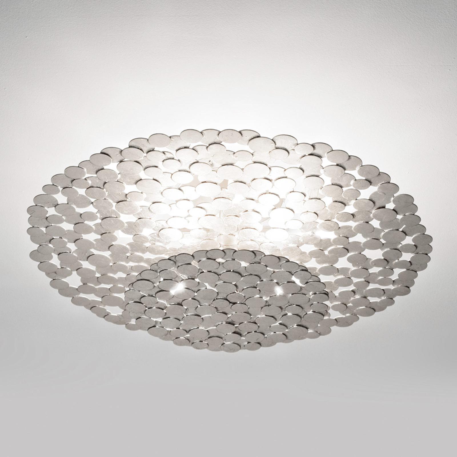 Terzani Tresor Designer-Deckenleuchte 60cm silber