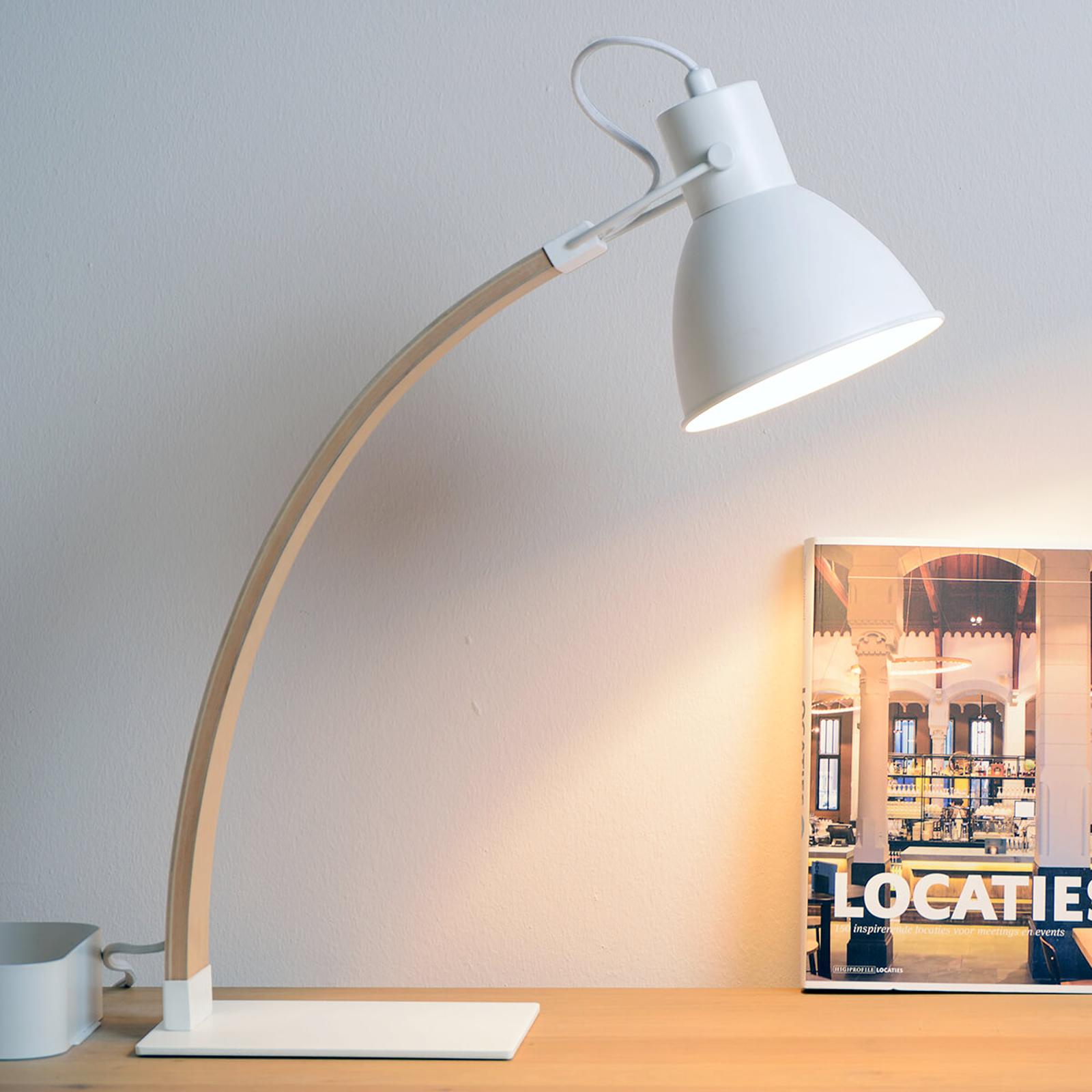 Flot bordlampe Curf, hvid