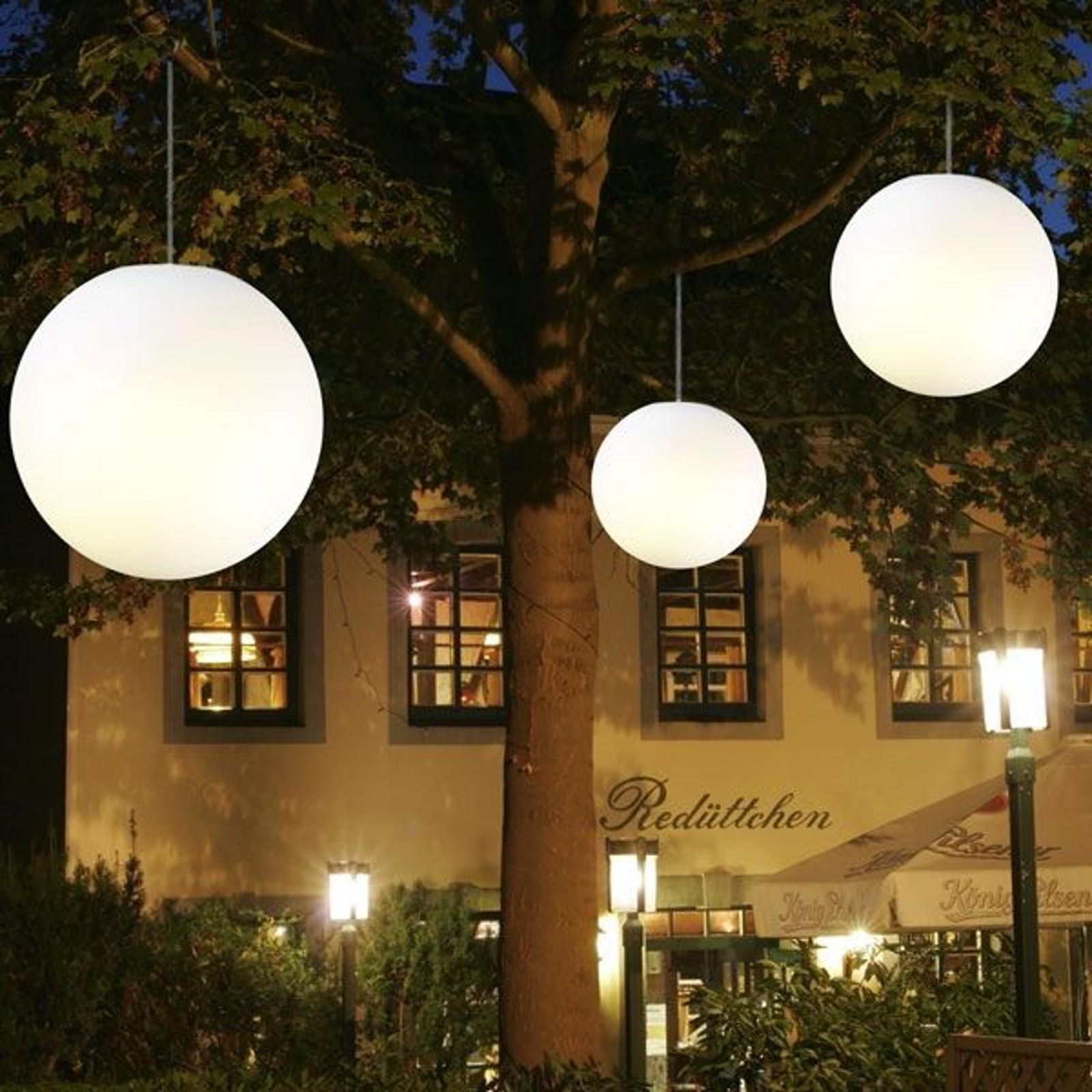 Závěsné světlo Snowball bílé venkovní 30 cm