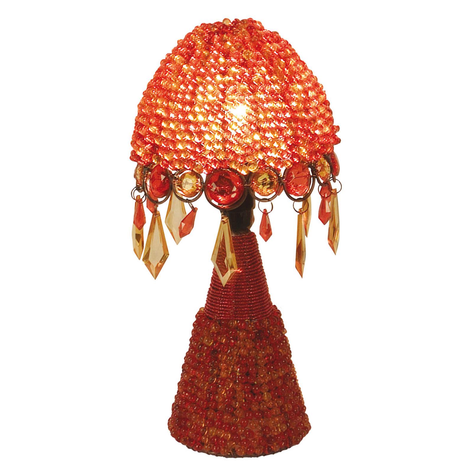 Tafellamp Perla 30 cm oranje