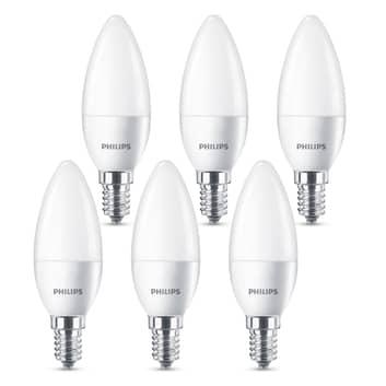 Philips ampoule LED E14 B35 5,5W mate lot de 6