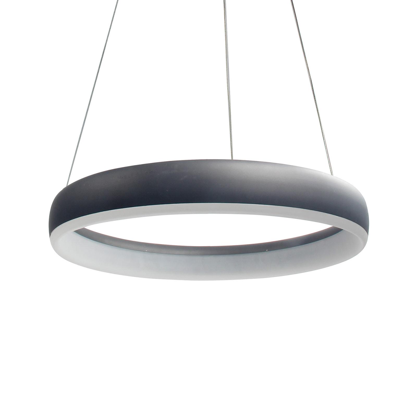 WiZ Clint lampa wisząca LED czarna, Ø 40 cm