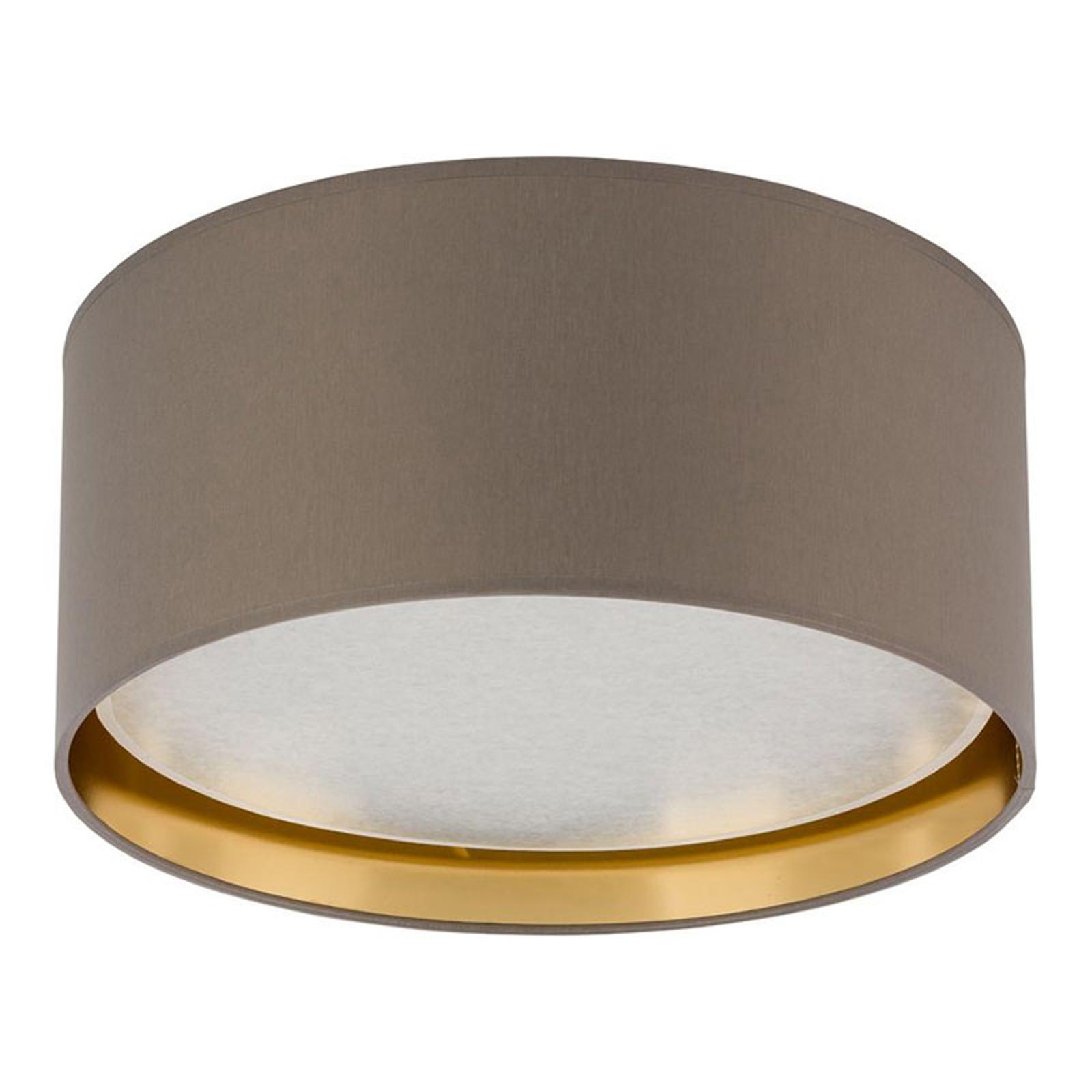Taklampe Bilbao, Ø 45 cm, grå/gull