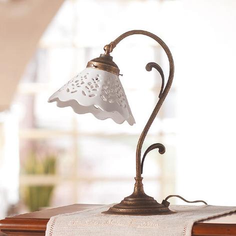 Lampada da tavolo Semino con paralume di ceramica