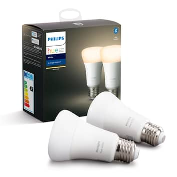 Philips Hue White bombilla LED 9 W E27 set de 2