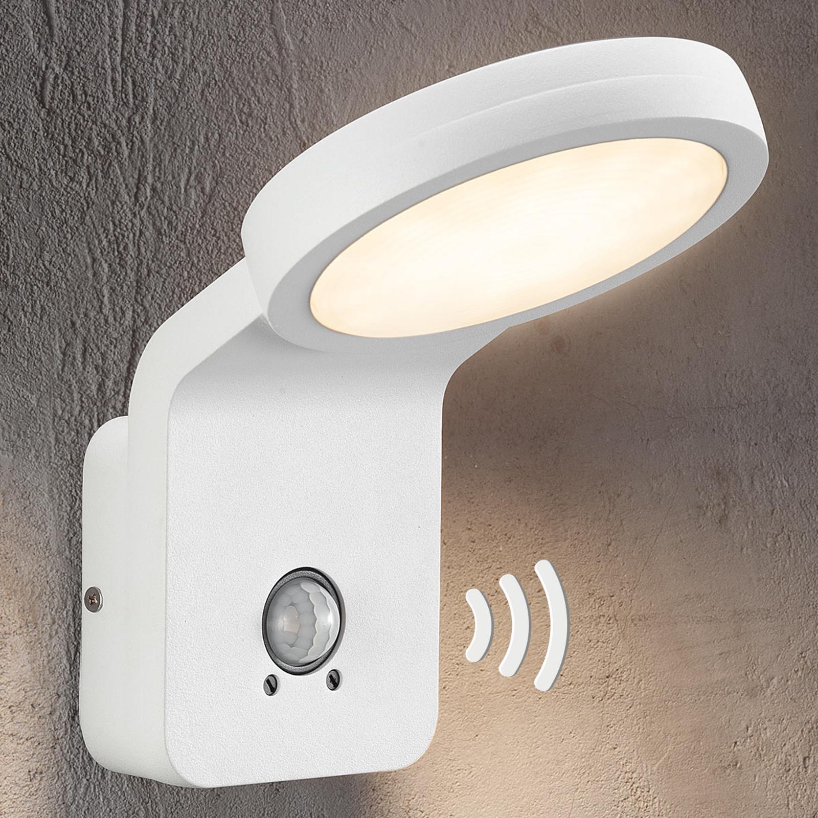 LED-Außenwandleuchte Marina m. IR-Sensor weiß