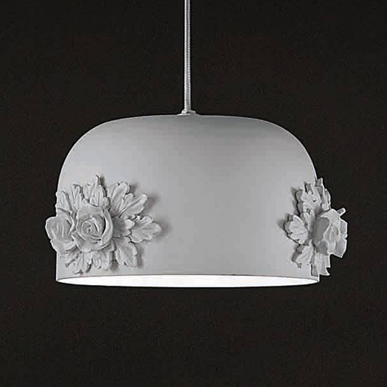 Kleine LED hanglamp Dame in wit, 18 cm