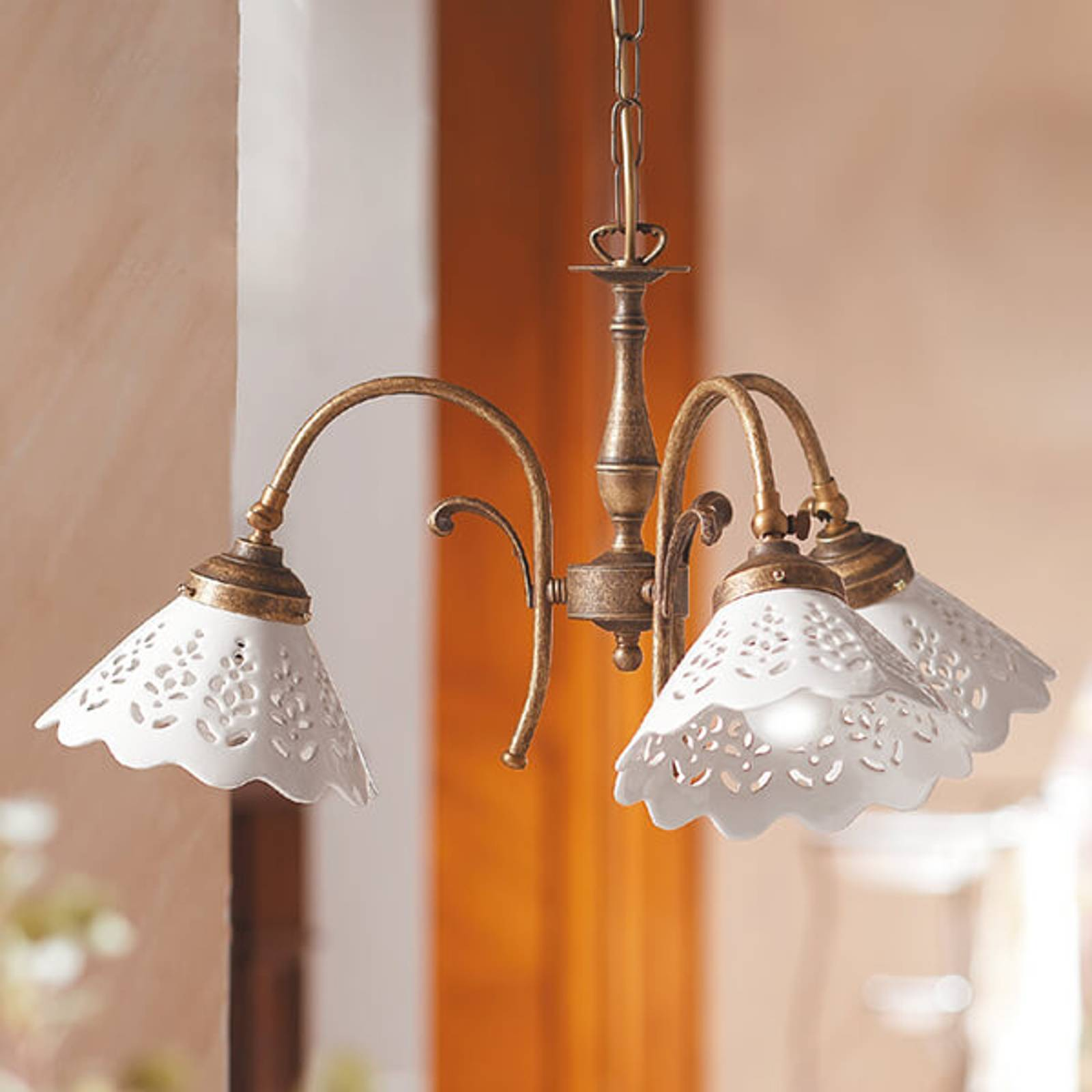 Hanglamp Semino m keramiek lampenkap, m 3 lampjes