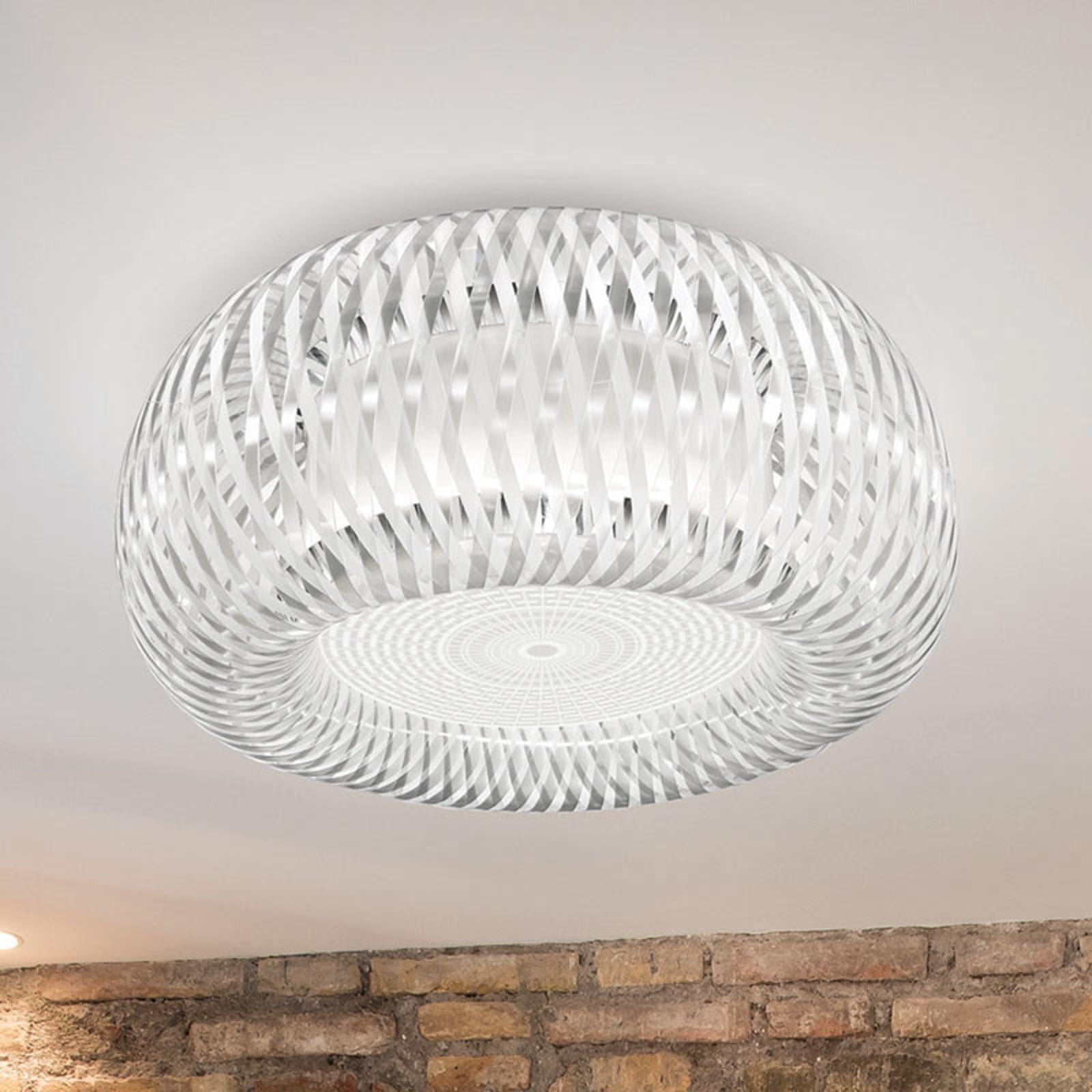 Slamp Kalatos taklampe, gjennomsiktig/hvit