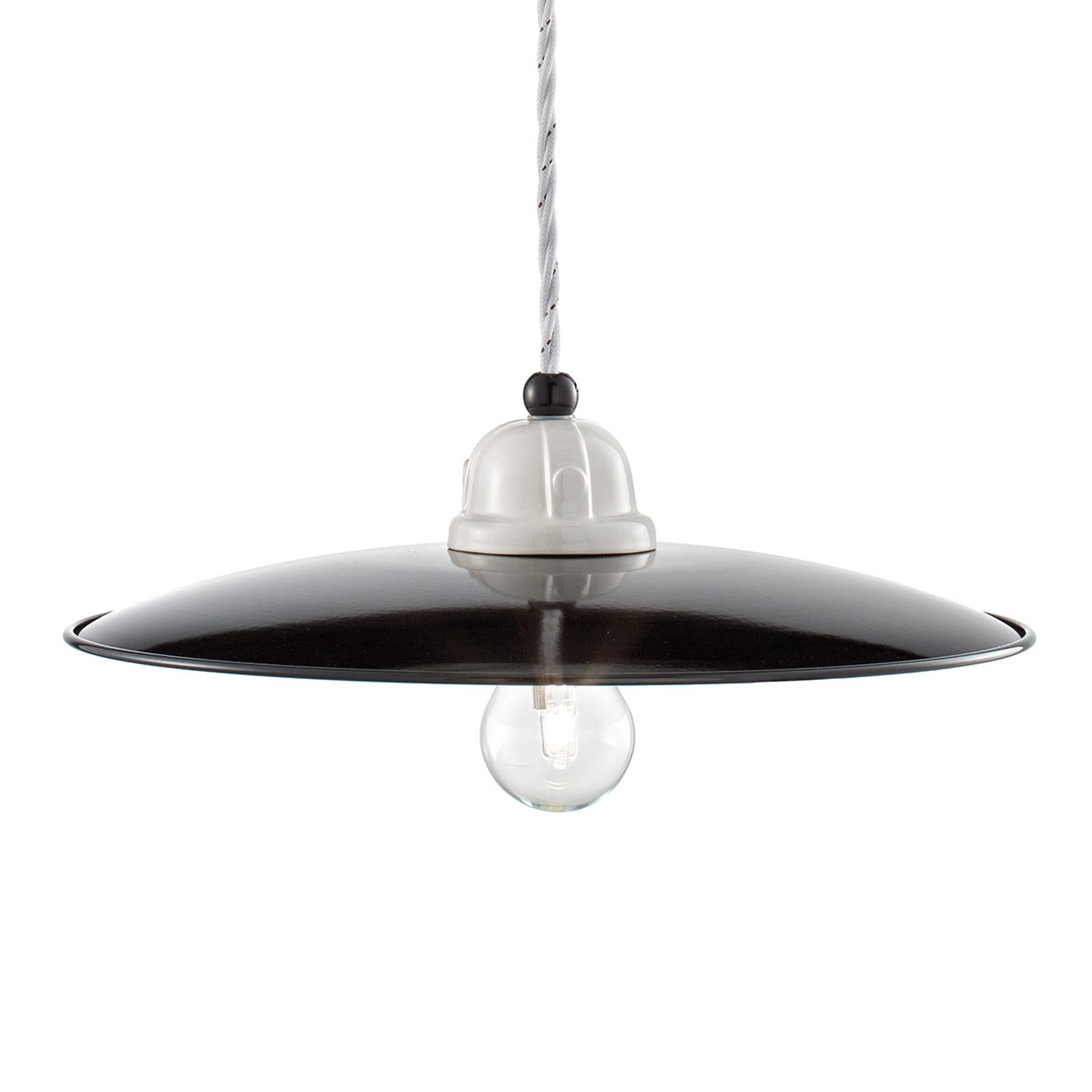 Lampa wisząca retro C1612, czarno-biała