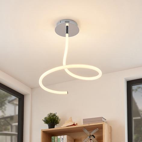 Lucande Serpentina -LED-kattovalo, himmennettävä