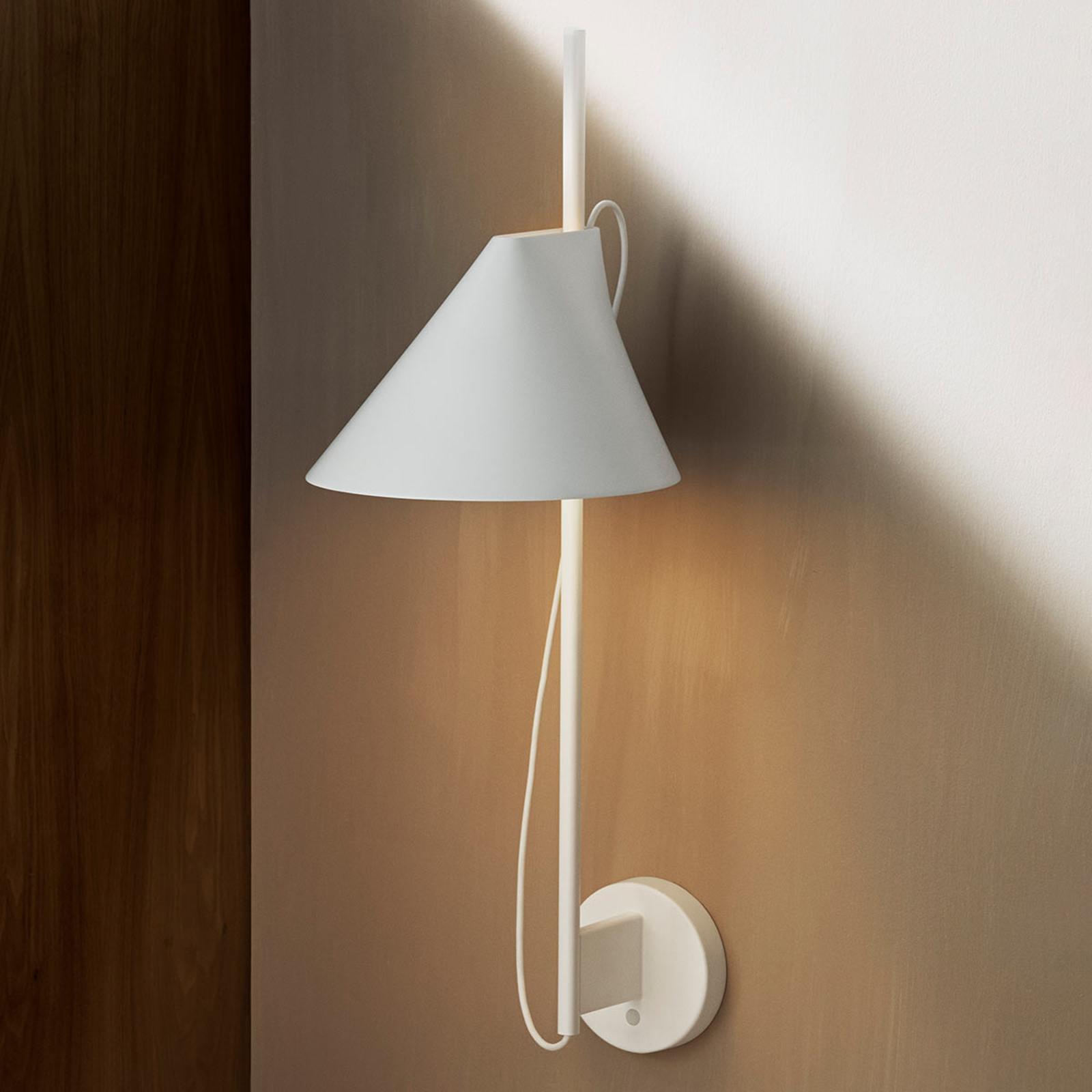 Dimbare LED wandlamp Yuh met schakelaar, wit