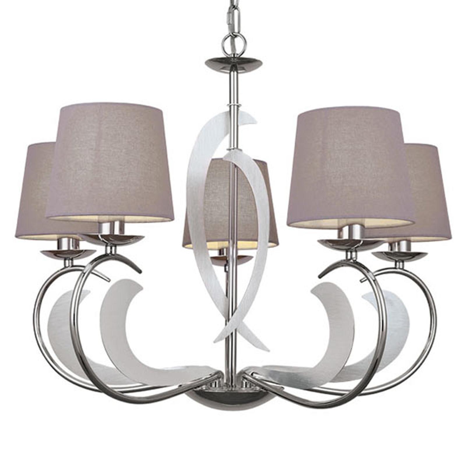 Evelyn - 5-lamps kroonluchter met charme