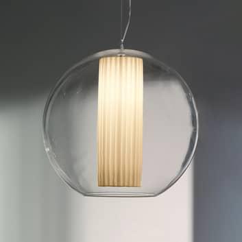Modo Luce Bolla lampa wisząca tkanina biała