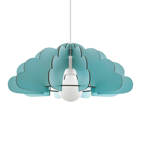 Hanglamp Chieti in wolkendesign, mintgroen