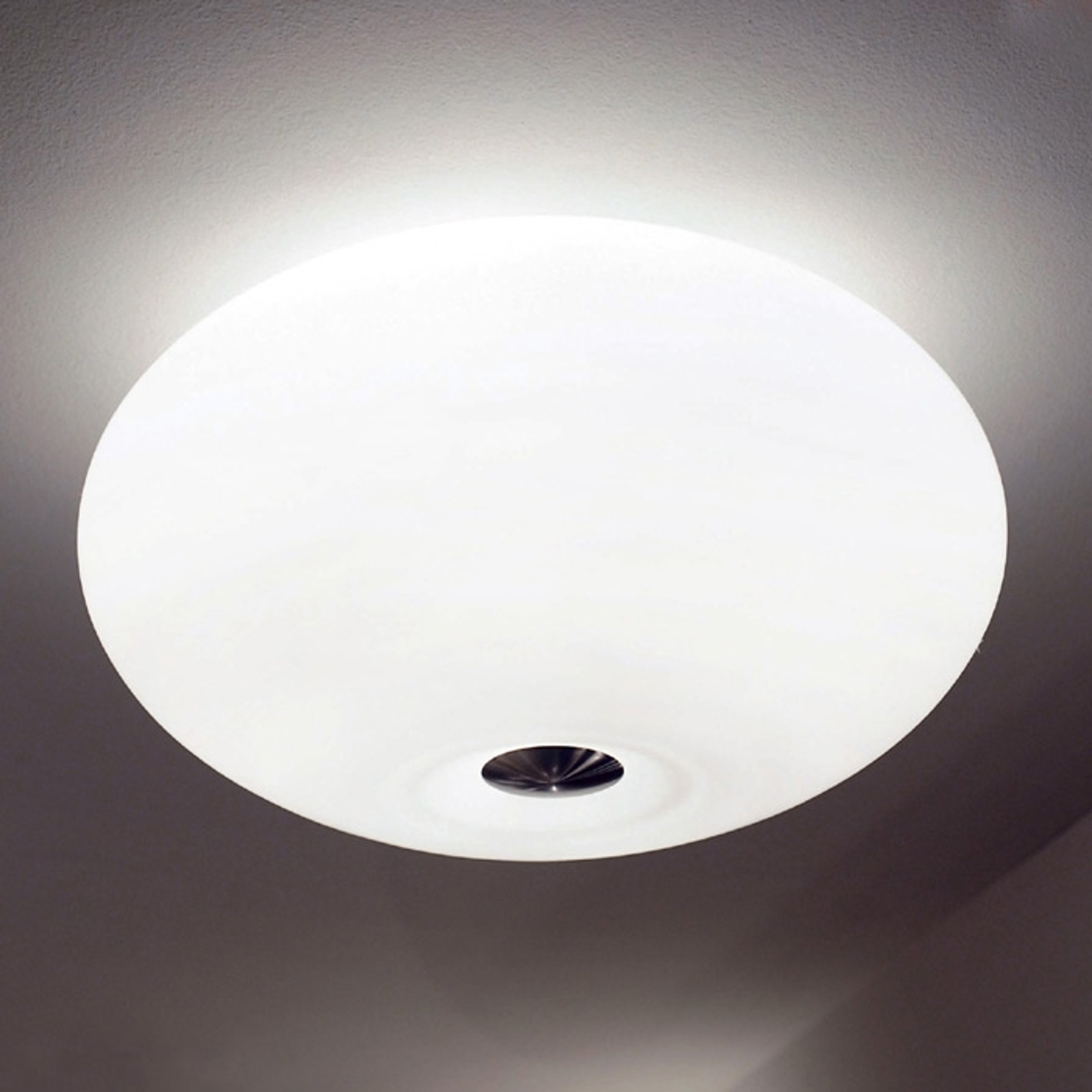 Piękna lampa sufitowa AIH 38 cm biała matowa
