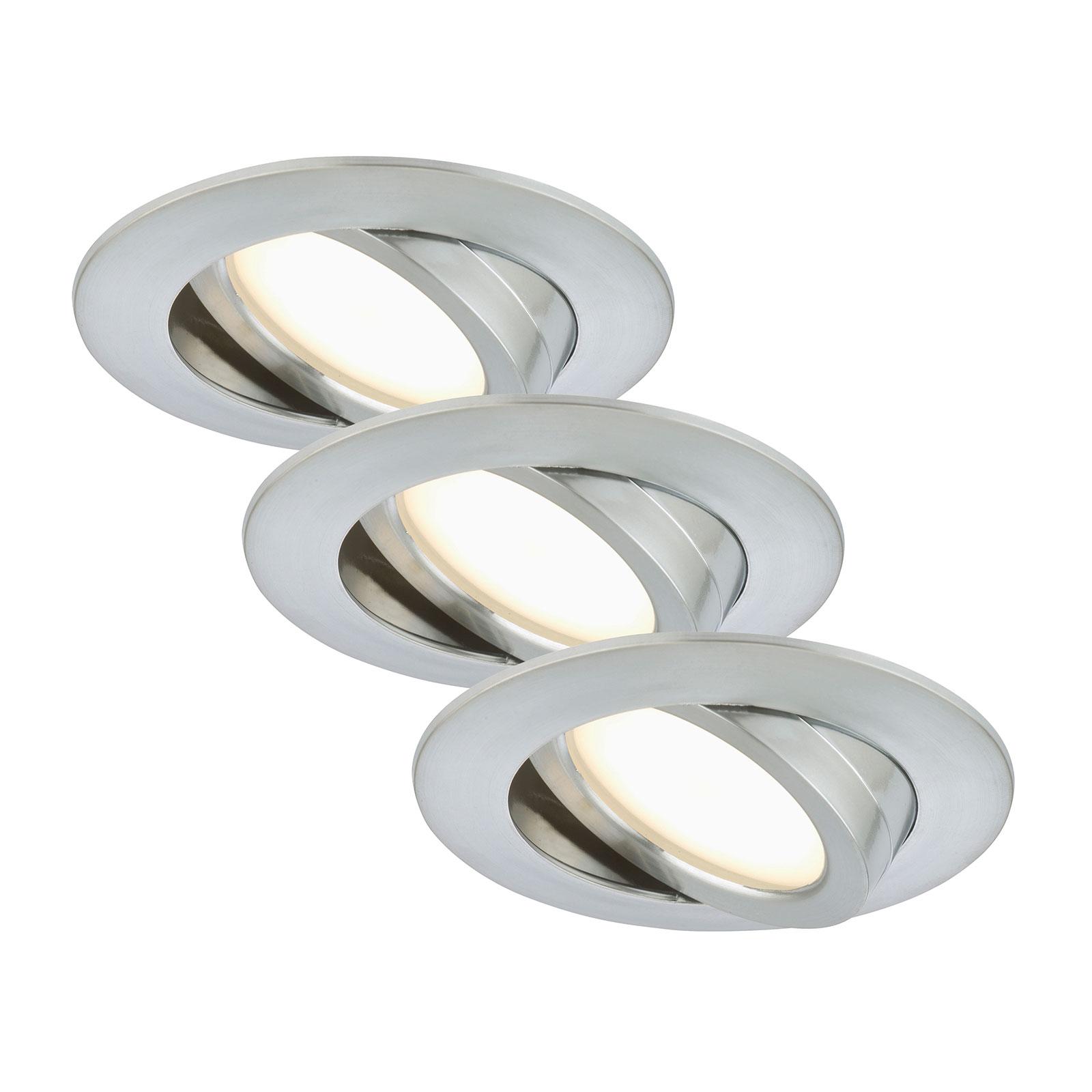 Set de 3: lámparas empotradas LED Bert, giratoria