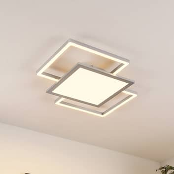 Lucande Ciaran LED-Deckenlampe, quadratisch
